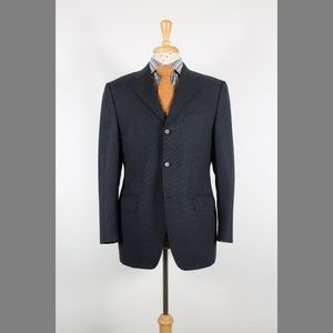#Canali 40S Gray Wool 3B Mens Sport Coat 75-9